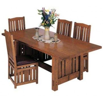 Woodworker S Journal Stickley Inspired Dining Table Plan Rockler