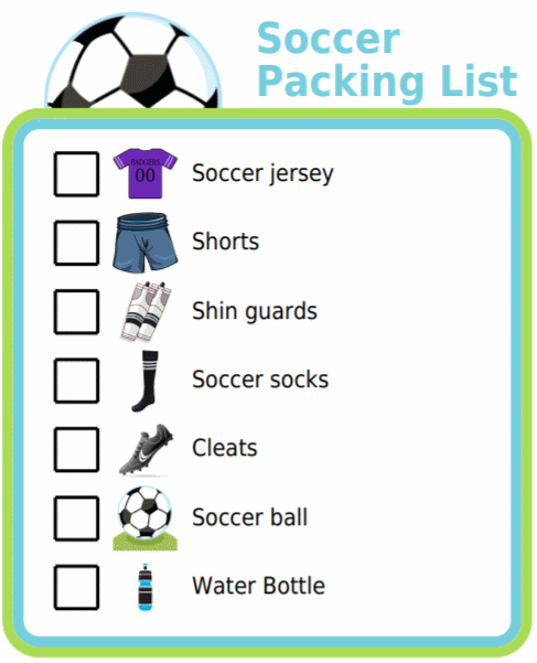 Free Packing Lists Soccer Games For Kids Printable Activities For Kids List