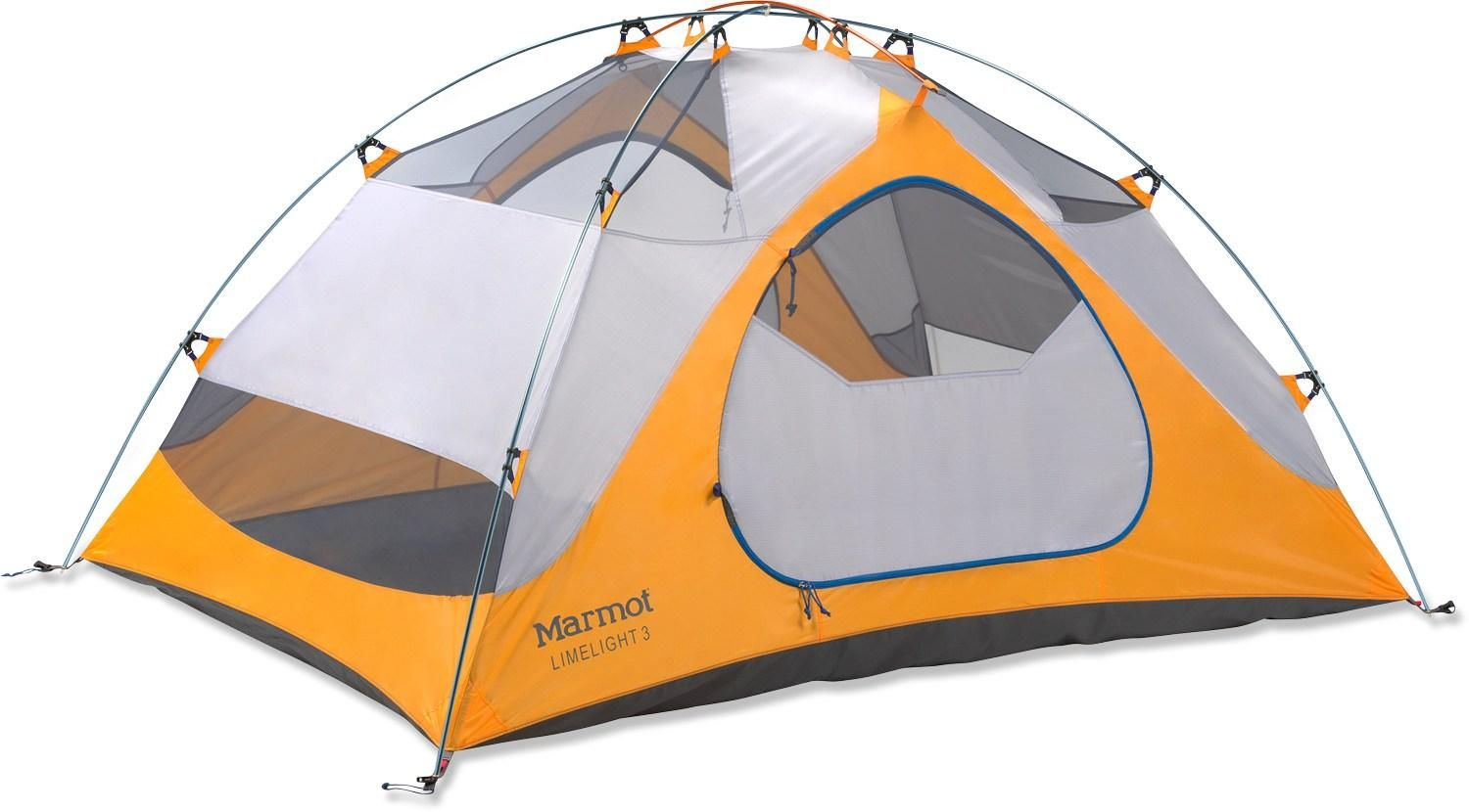 The Marmot Limelight 3P tent offers 3 backpackers a comfortable space and tough yet lightweight construction. Limelight also offers great value as it comes complete with footprint and gear loft!