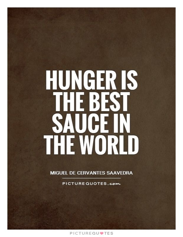 Hunger Quotes Adorable Hunger Is The Best Sauce In The Worldpicture Quotes Janeyp123
