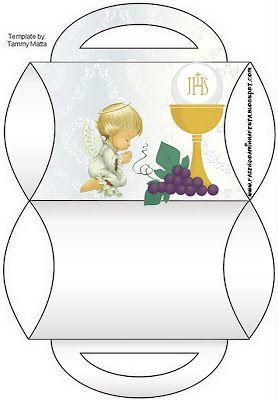 Cajas Decorativas De Comunion Para Imprimir