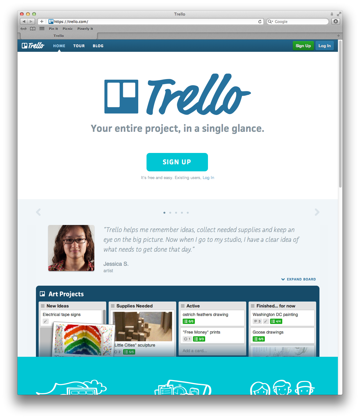 Trello An app to use between devices to assist with