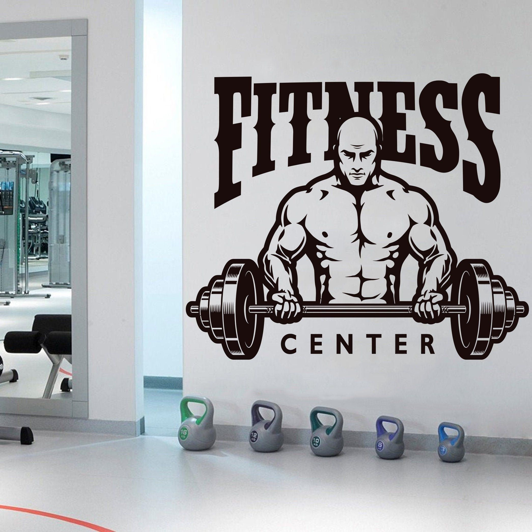 Fitness Center Wall Decals Gym Wall Decal Fitness Workout Gym Club Decor Mural Vinyl Gym Wall Stickers Gym Girl Motivation Crossfit 623es In 2021 Gym Wall Decal Gym Wall Stickers Wall Decals [ 2090 x 2090 Pixel ]
