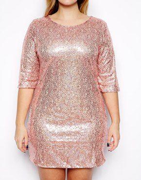 Club L Plus Size Sequin Shift Dress | Sequins, Plus size and Dresses