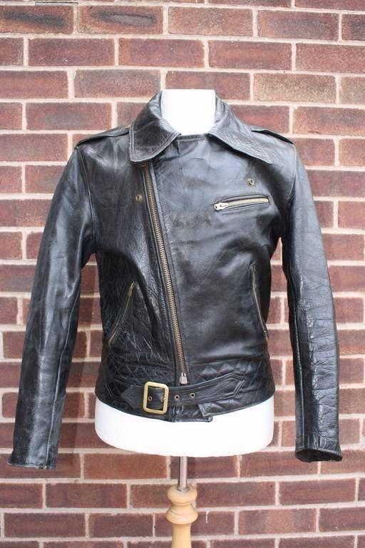 Vtg 1950s German Leather Motorcycle Biker Jacket Medium Vintage Leather Jacket Jackets Biker Jacket