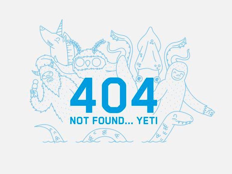Diseño Página 404 Web design Pinterest - resume yeti