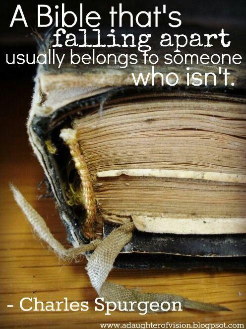 A Bible that's falling apart. ..