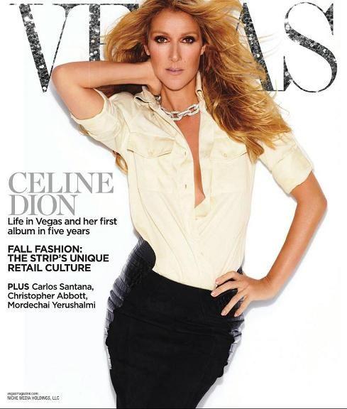 Céline, éblouissante sur la couverture de Vegas Magazine | The Official Celine Dion Site