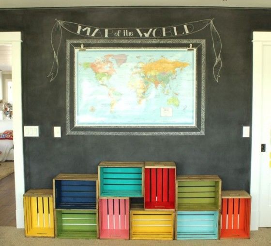 12 creative diy projects from wooden crates crates for Unique shelves diy