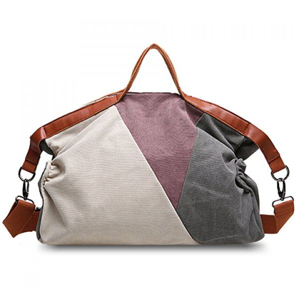 e442a33a30 Trendy Color Block and Canvas Design Women s Tote Bag