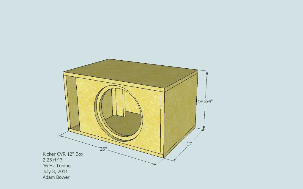 Subwoofer Box Design For 12 Inch Kicker Box Specs Kicker Sub Install Using Factory Head Unit Single 12 Inch Porte Subwoofer Box Design Subwoofer Box Box Design