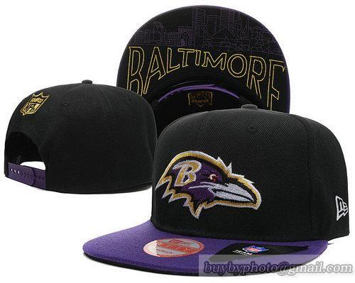 NFL Baltimore Ravens Snapback Hats Black Purple 55   Baltimore