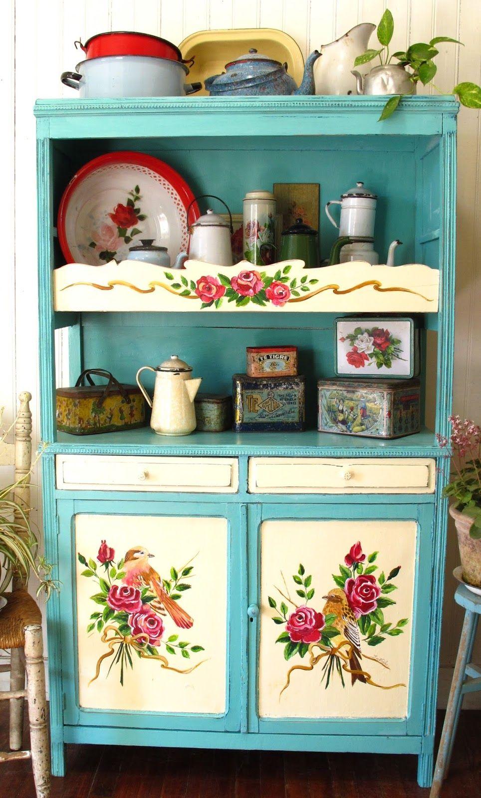 painted kitchen dresser | decoupage 8 | Pinterest | Mobili dipinti ...