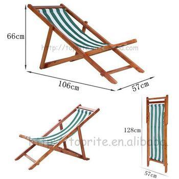 4 posiciones casa de madera silla plegable - Identificación del - sillas de playa