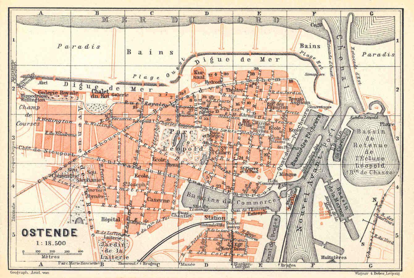 Oostende Kaart 1910 Antieke Kaarten Oude Kaarten Kaarten