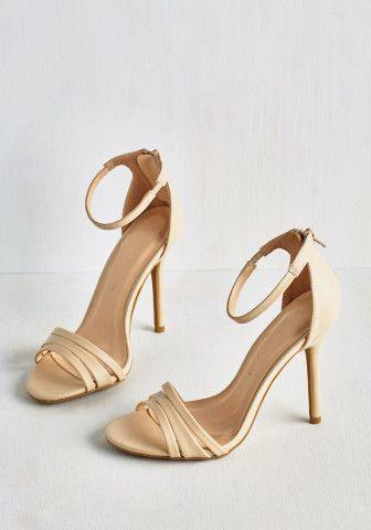 Sought-After Sophistication Heel in Ecru | Mod Retro Vintage Heels | ModCloth.com