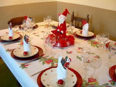 Decoracion de mesas mesa navidad de papa noel navidad - Decoracion de mesas navidenas ...