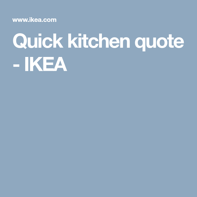 Ikea Kitchen Quote: Quick Kitchen Quote - IKEA