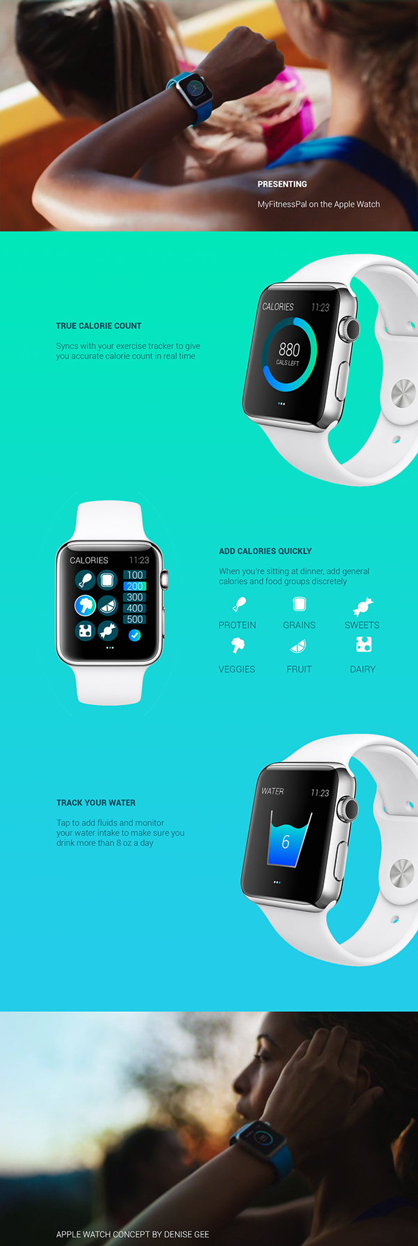 My Fitness Pal Apple Watch Concept WIP Apple watch