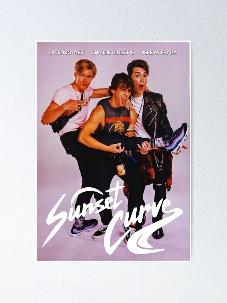 Sunset Curve Band Poster Poster by Robyncutforth