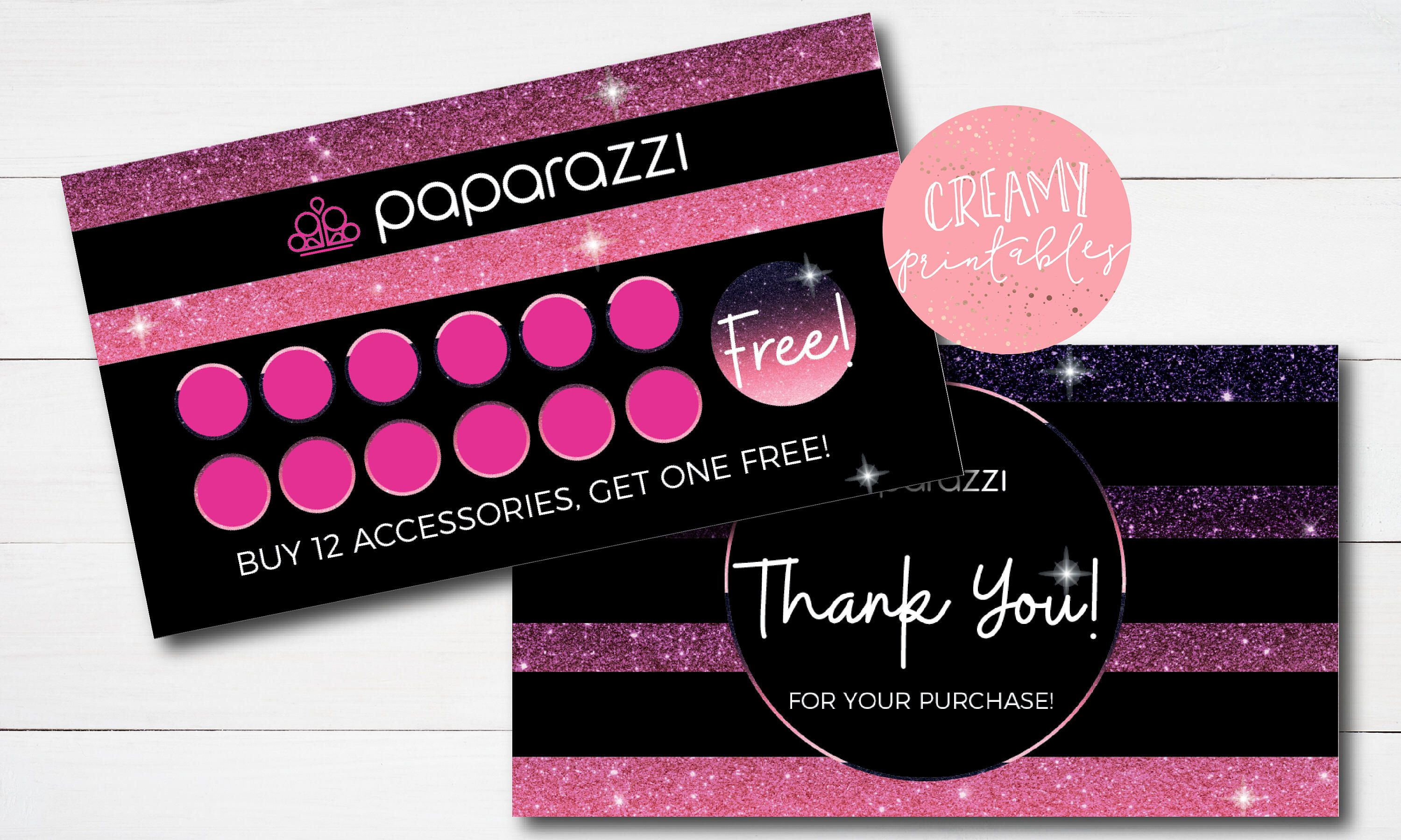 Paparazzi Business Cards, Free Personalized, Paparazzi Punch Card ...