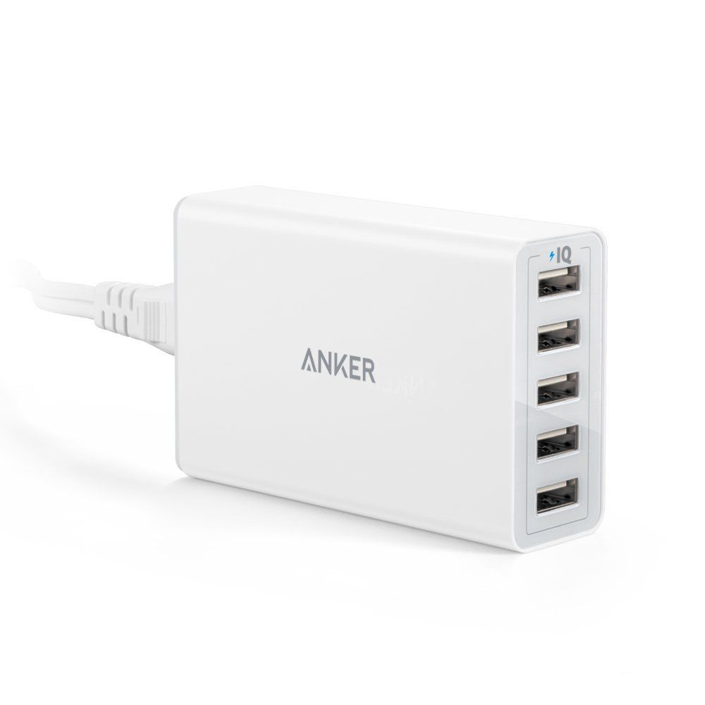 Anker USB Wall Charger iPad Pro//Air 2//Mini//iPod / and More Note 60W 6 Port USB Charging Station Renewed PowerPort 6 Multi USB Charger for iPhone XS//Max//XR//X//8//7//Plus Galaxy S9//S8//S7//Edge//Plus