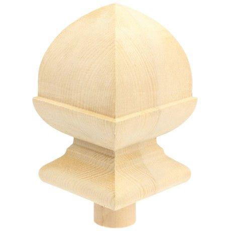 Hemlock Square Acorn Cap 90mm Newel Post Caps Acorn Cap