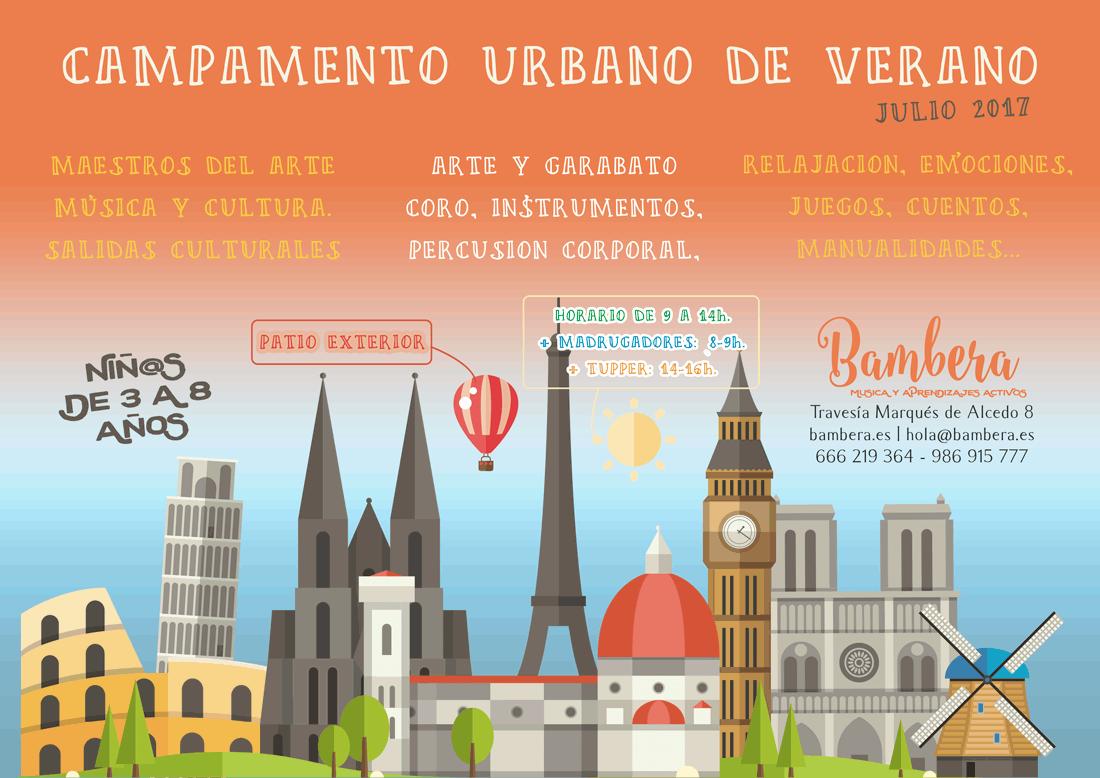 Campamento de Verano para niños de 3 a 8 años en Vigo. Actividades y salidas culturales, arte, música, maestros de la historia del arte. juegos manualidades