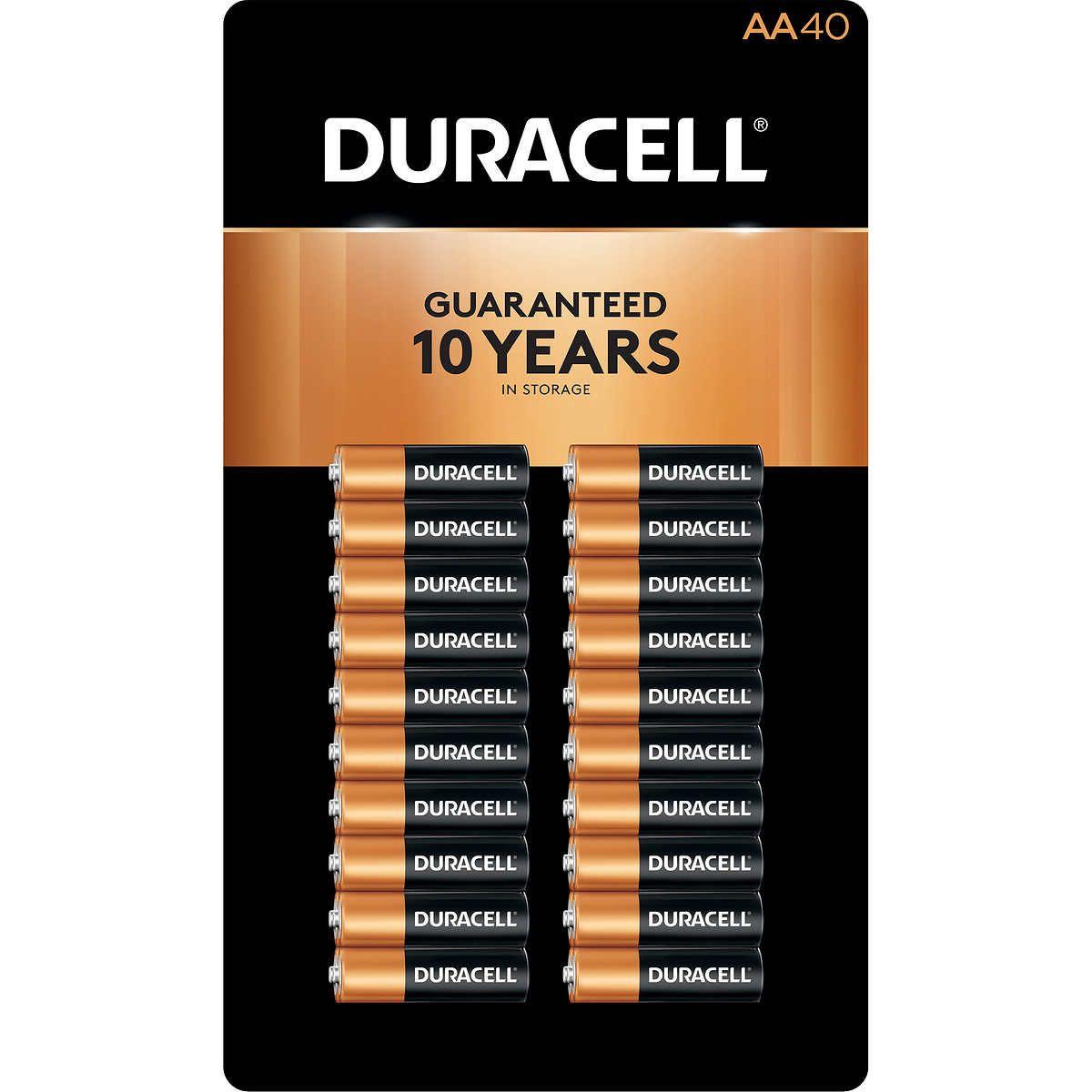 Duracell Coppertop Aa Alkaline Batteries 40 Count In 2020 Garage Storage Racks Overhead Garage Storage Duracell