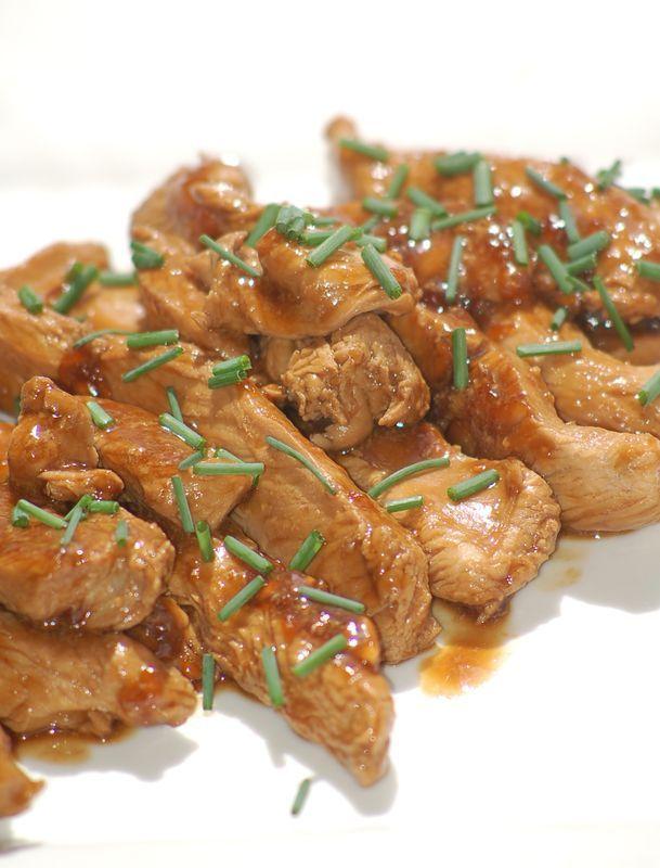 Aiguillettes de poulet laqu dukan pp pl dukan r gime gourmand ww1 chicken thermomix - Cuisiner aiguillette de poulet ...
