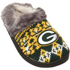 7b41d1c2 Green Bay Packers Women's Aztec Slide Slippers | GB PACKERS | Green ...