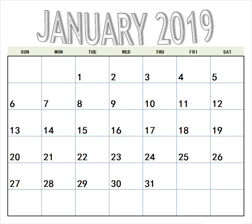 January 2019 Cute Calendar 2019 Calendar Cute Calendar Calendar