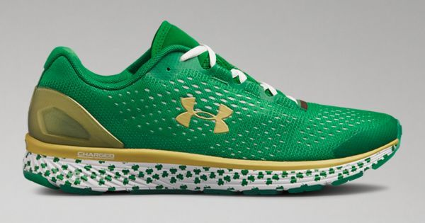 sports shoes d0ab4 80eef Shop Under Armour for Men s UA Charged Bandit 4 Notre Dame Running Shoes in  our Men s Running Shoes department. Free shipping is available in US.
