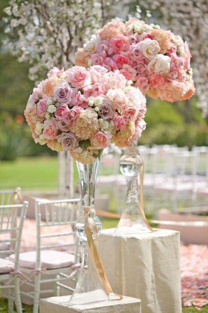 Clear Trumpet Fl Vase Wedding Centerpiece
