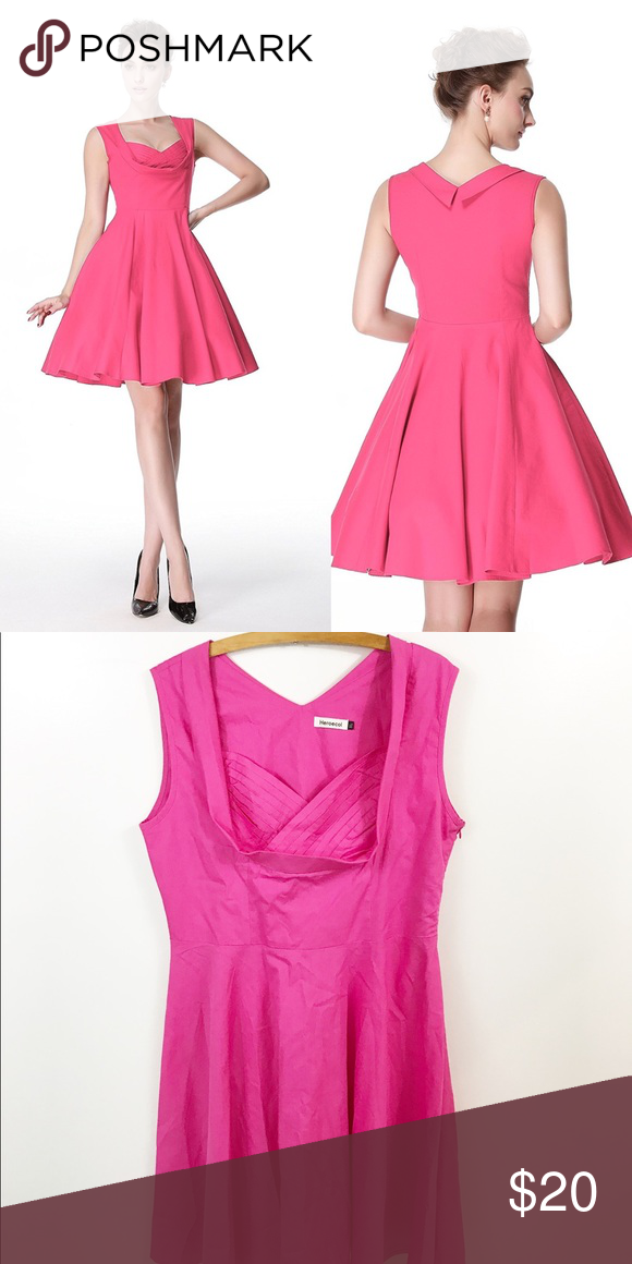 50s Style Pink Swing Dress Fit and Flare Lindybop Lindybop STYLE ...
