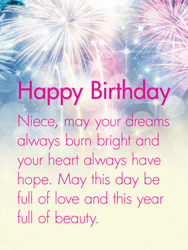 Your Heart Always Have Hope Happy Birthday Wishes Card For Niece