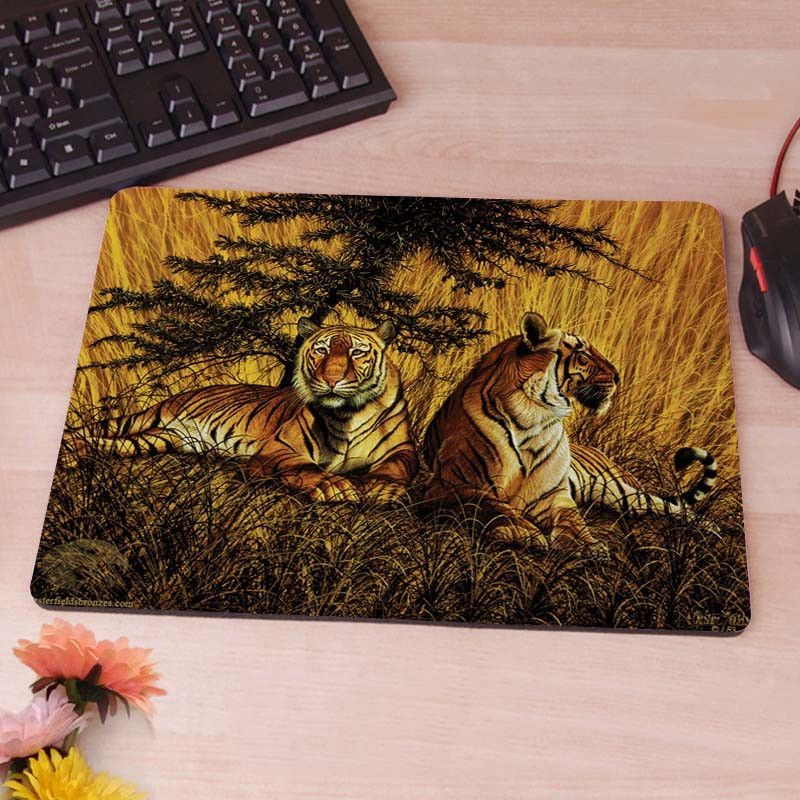 Wild Life Extinct Bengal Tiger Computer Mouse Pad Mousepad Decorate Your Desk Non-Skid Rubber Pad