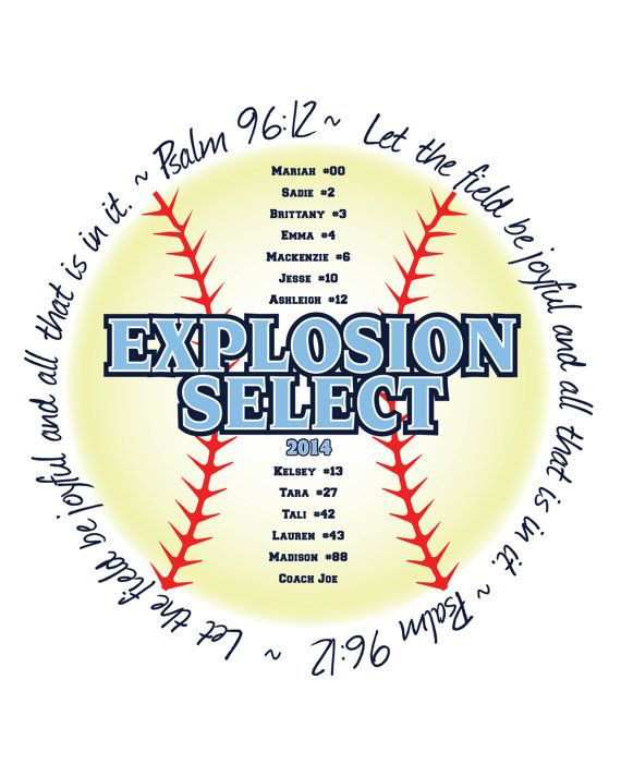Motivational Quotes For Sports Teams: Psalm 96:12 Printable Religious Bible Verse Softball Sign