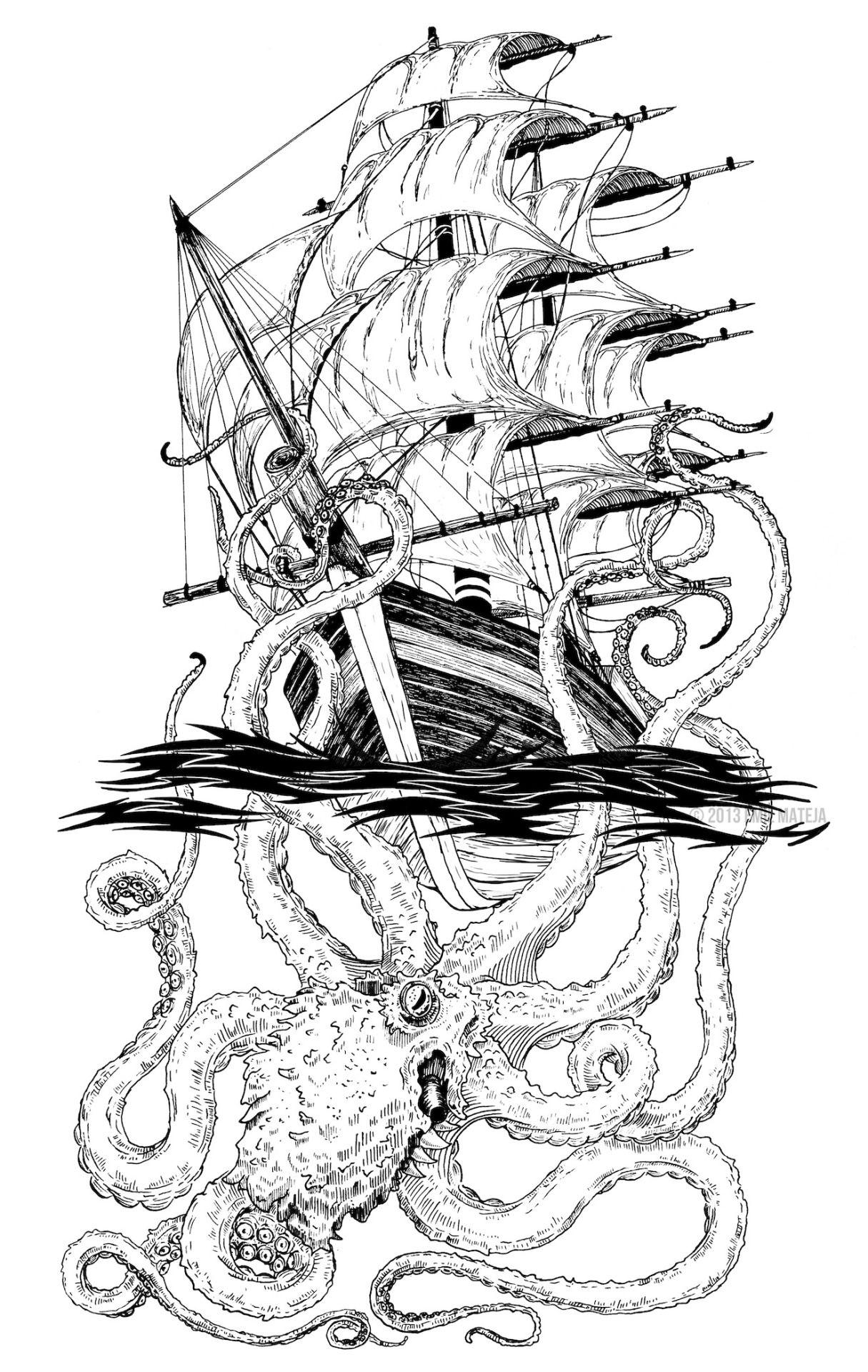 the Kraken … TattooIdeen Pinterest