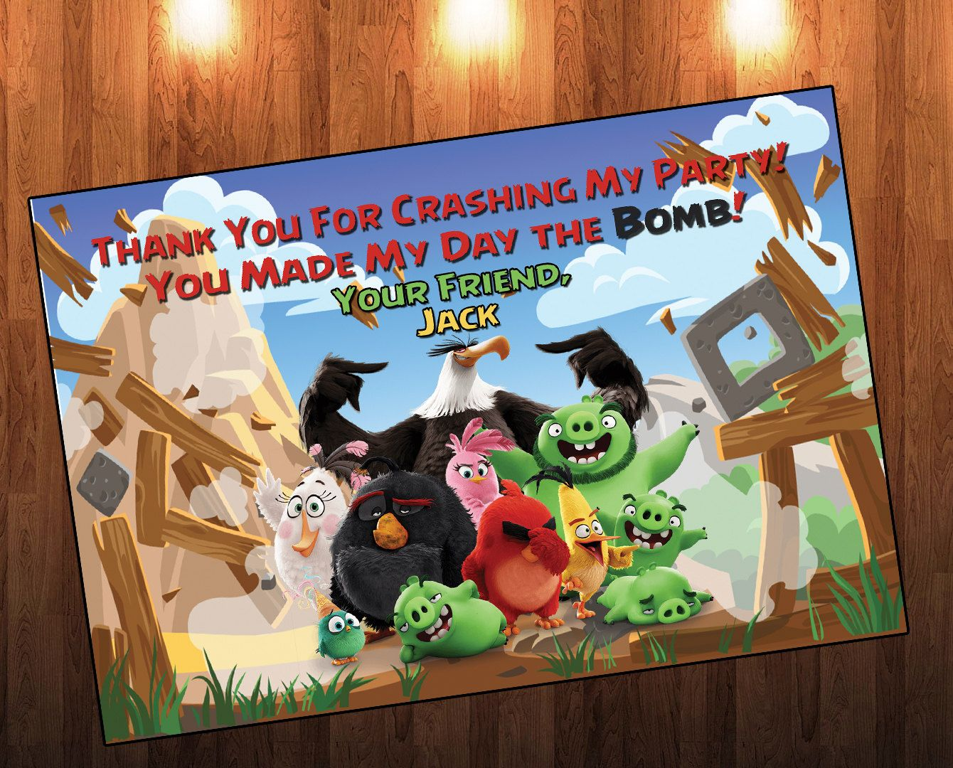 Angry Birds, Angry Birds Birthday, Thank You, Favor Tags, Favor Bags ...