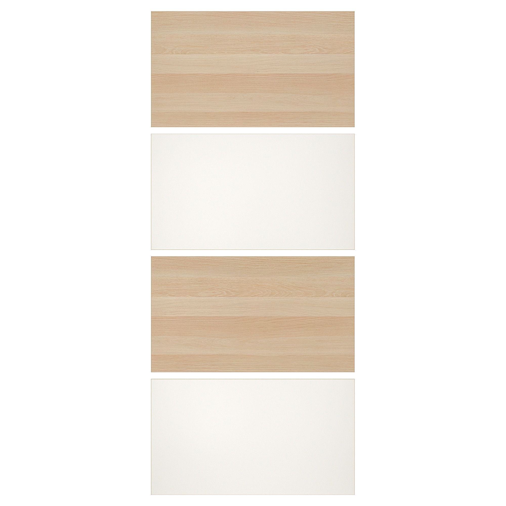 Ikea Mehamn White Stained Oak Effect White 4 Panels For Sliding Door Frame Sliding Doors Wardrobe Systems White Stain