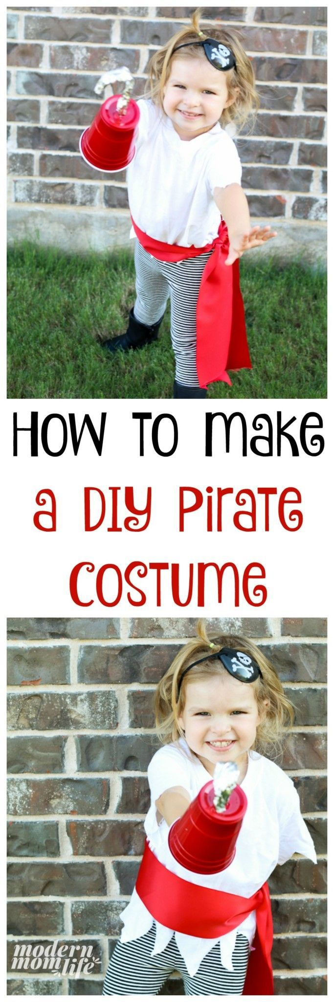 How to Make a DIY Pirate Costume for The Best Pirate Story Never Told #diypiratecostumeforkids