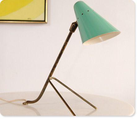 mid century lamp. 1950s Italian Tripod Lamp Mid Century