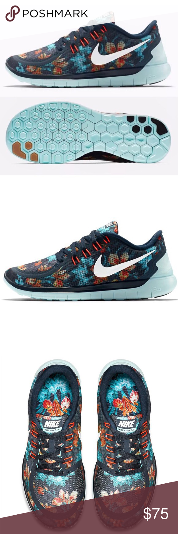 Nike Free 5.0 Photosynthesis Running Sneakers Brand new WITHOUT box,  women's size 5.5. Nike