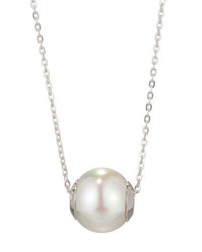 12mm White Pearl Pendant Necklace
