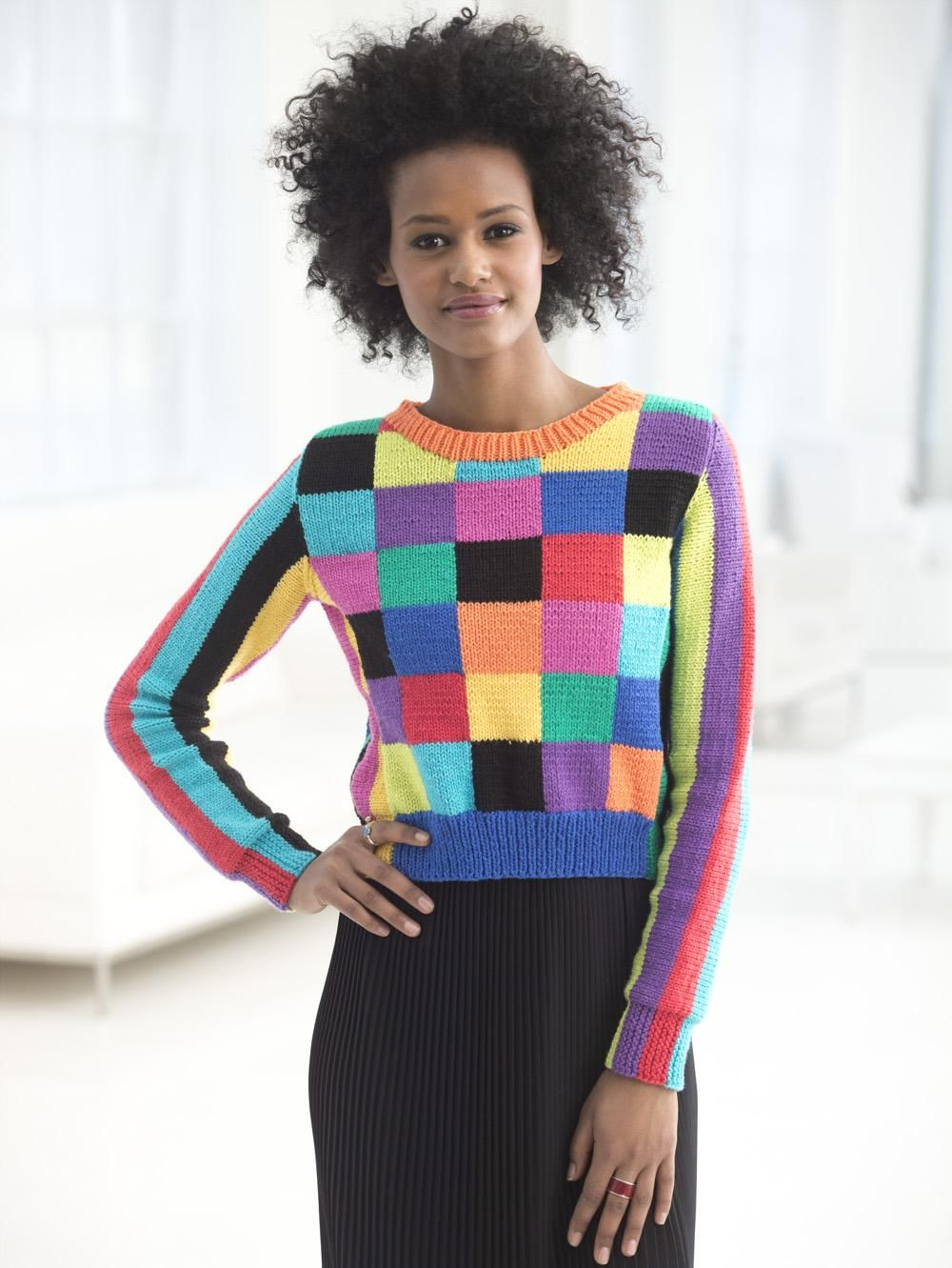 Lion Brand Yarn on | Pullover, Knit crochet and Yarns