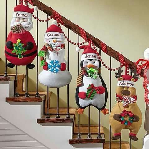 Escaleras navidas pinterest escalera navidad y adornos for Como decorar gradas