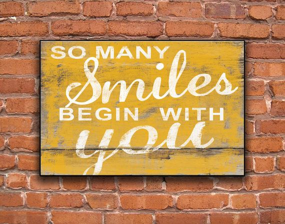 So many smiles begin with you handmade wooden sign Children\'s room ...