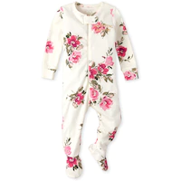The Childrens Place Baby Girls Christmas Long Sleeve One-Piece Pajamas