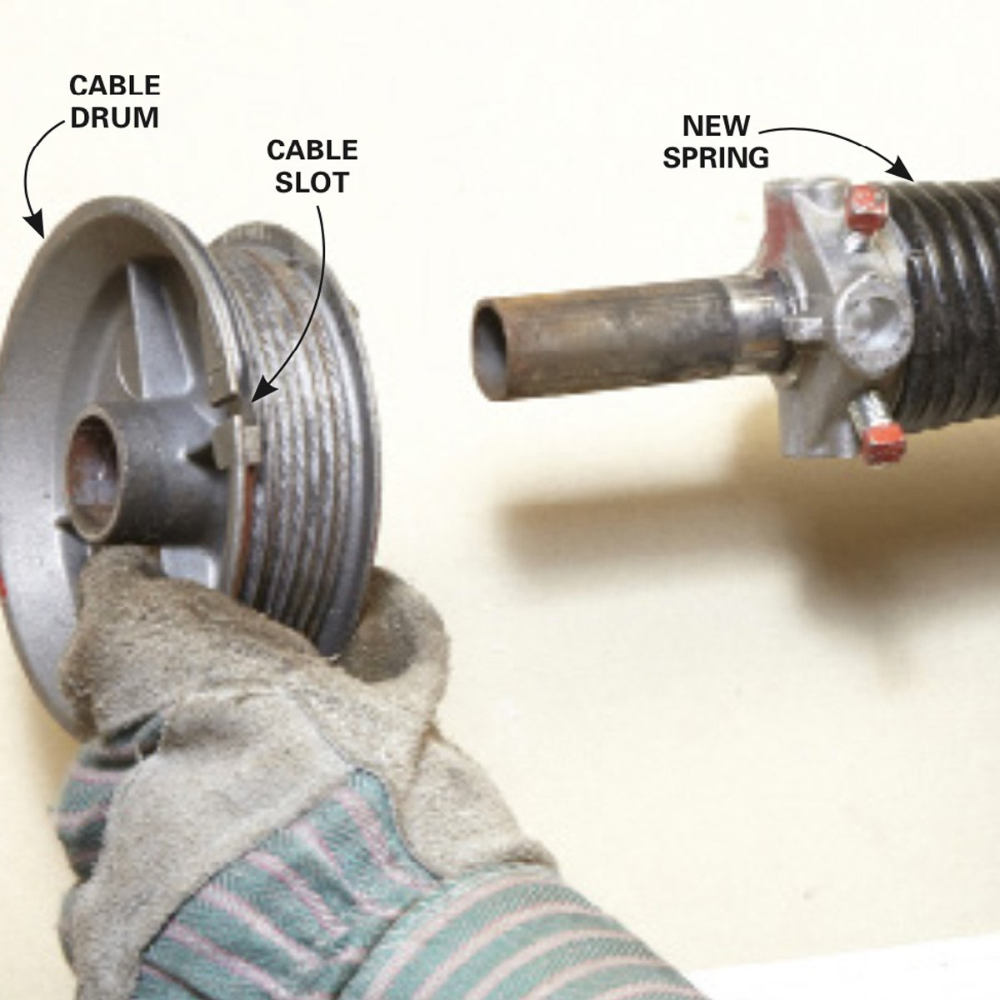 How to Repair Garage Door Springs and Cables | Overhead ... on Overhead Garage Door Spring Replacement  id=91250